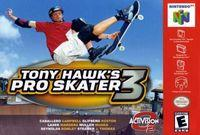 Portada oficial de Tony Hawk's Pro Skater 3 para Nintendo 64