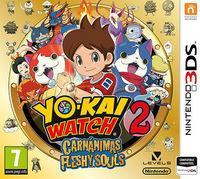 Portada oficial de Yo-Kai Watch 2: Fantasqueletos y Carnánimas para Nintendo 3DS