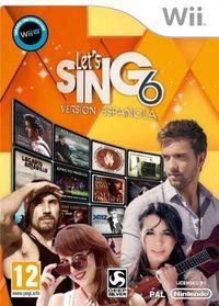 Portada oficial de Let's Sing 6: Versión Española para Wii