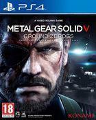 Portada oficial de de Metal Gear Solid V: Ground Zeroes para PS4