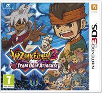 Portada oficial de Inazuma Eleven 3: La amenaza del ogro para Nintendo 3DS