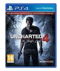 Portada oficial de Uncharted 4: El Desenlace del Ladrón para PS4