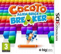 Portada oficial de Cocoto Alien Brick Breaker eShop para Nintendo 3DS