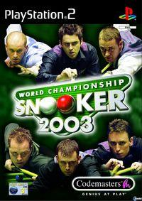 Portada oficial de World Championship Snooker 2003 para PS2