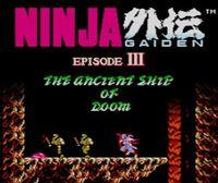 Portada oficial de Ninja Gaiden III: The Ancient Ship of Doom CV para Nintendo 3DS