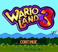 Portada oficial de Wario Land 3 CV para Nintendo 3DS