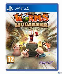 Portada oficial de Worms Battlegrounds para PS4