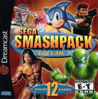 Portada oficial de Sega Smash Pack Vol. 1 para Dreamcast