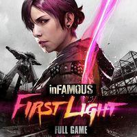 Portada oficial de inFamous First Light para PS4