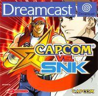 Portada oficial de Capcom vs SNK para Dreamcast