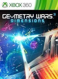 Portada oficial de Geometry Wars 3: Dimensions para Xbox 360