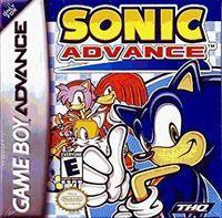 Portada oficial de Sonic Advance para Game Boy Advance