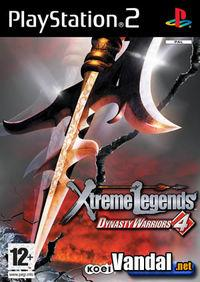 Portada oficial de Dynasty Warriors 4 Xtreme Legends para PS2