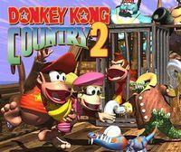 Portada oficial de Donkey Kong Country 2: Diddy's Kong Quest CV para Wii U