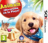 Portada oficial de Animalz ¡Diversión en la Playa! para Nintendo 3DS