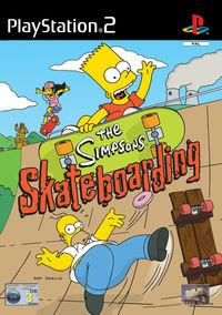 Portada oficial de The Simpsons Skateboarding para PS2