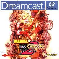 Portada oficial de Marvel vs Capcom 2 para Dreamcast