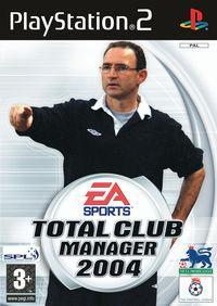 Portada oficial de Total Club Manager 2004 para PS2