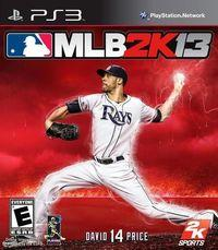 Portada oficial de Major League Baseball 2K13 para PS3