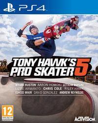 Portada oficial de Tony Hawk's Pro Skater 5 para PS4