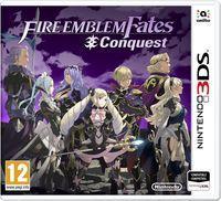 Portada oficial de Fire Emblem Fates: Conquista para Nintendo 3DS