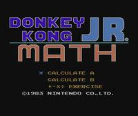 Portada oficial de Donkey Kong Jr Math CV para Wii U