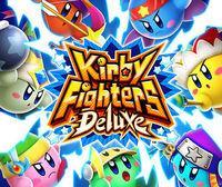 Portada oficial de Kirby Fighters Deluxe eShop para Nintendo 3DS