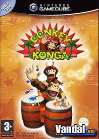 Portada oficial de Donkey Konga para GameCube