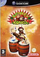 Portada oficial de de Donkey Konga para GameCube