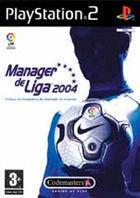 Portada oficial de de Manager de Liga 2004 para PS2