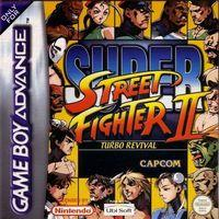 Portada oficial de Super Street Fighter 2 Turbo Revival para Game Boy Advance