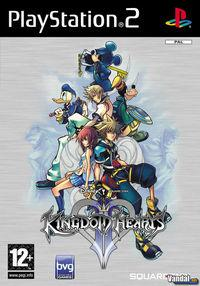 Portada oficial de Kingdom Hearts II para PS2