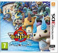 Portada oficial de Yo-Kai Watch Blasters: Liga del gato rojo & Escuadrón del perro blanco para Nintendo 3DS