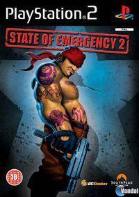 Portada oficial de State of Emergency 2 para PS2