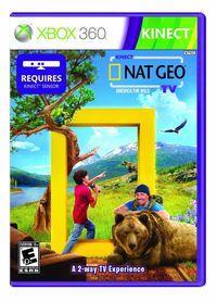 Portada oficial de Kinect Nat Geo TV para Xbox 360