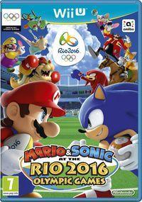 Portada oficial de Mario & Sonic en los Juegos Olímpicos: Rio 2016 para Wii U