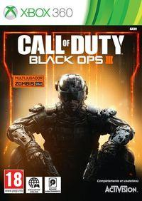 Portada oficial de Call of Duty: Black Ops III para Xbox 360