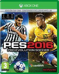 Portada oficial de Pro Evolution Soccer 2016 para Xbox One
