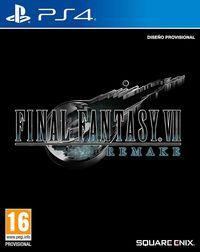 Portada oficial de Final Fantasy VII Remake para PS4