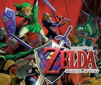 Portada oficial de The Legend of Zelda: Ocarina of Time CV para Wii U