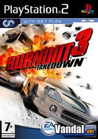 Portada oficial de Burnout 3 Takedown para PS2