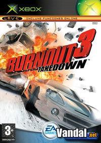 Portada oficial de Burnout 3 Takedown para Xbox