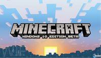 Portada oficial de Minecraft: Windows 10 Edition para PC