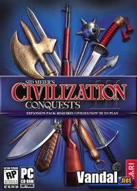 Portada oficial de Civilization 3: Conquests para PC