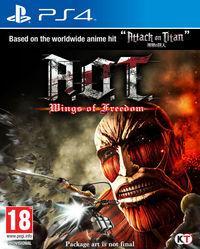 Portada oficial de A.O.T. Wings of Freedom para PS4