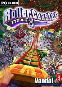 Portada oficial de RollerCoaster Tycoon 3 para PC