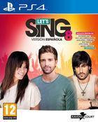 Portada oficial de de Let's Sing 8 Versión Española para PS4