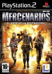 Portada oficial de de Mercenarios para PS2