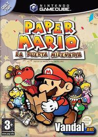 Portada oficial de Paper Mario: La Puerta Milenaria para GameCube