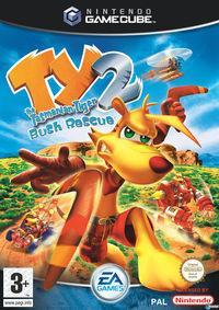 Portada oficial de Ty The Tasmanian Tiger 2 para GameCube